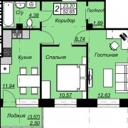 Продается 2-х комнатная квартира, Бобруйск