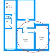 Продается комната в 4-х комнатной квартире, ул. Серова д.3-А