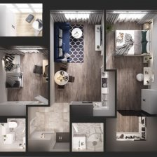 Продажа 2-х комнатной квартиры, г. Минск, просп. Жукова, дом 20 (р-н Михалово). Цена 168 626 руб c торгом