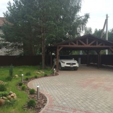 Дом с бассейном в 3 км от Минска, собственный сосновый лес на участке
