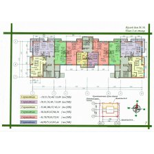 Многоквартирные жилые дома №№36, 38 сподземной стоянкой а/м попер.3,4 Полиграфическим