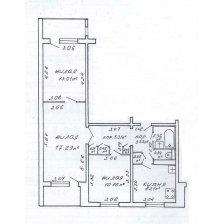 Продажа 3-х комнатной квартиры, г. Минск, ул. Гамарника, дом 26 (р-н Зеленый луг). Цена 172 858 руб