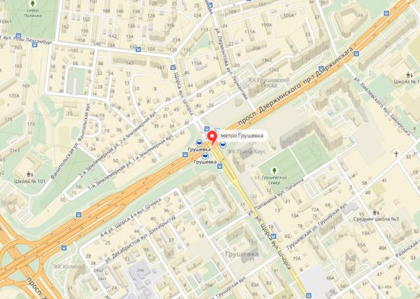 карта метро Грушевка